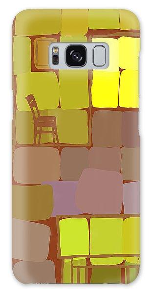 Galaxy Case featuring the digital art Yellow Room by Attila Meszlenyi