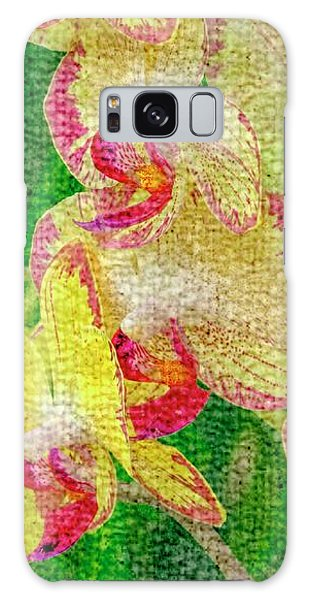 Yellow/rouge Orchids Galaxy Case