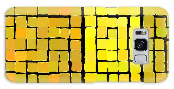 Galaxy Case featuring the digital art Yellow Triptych by Attila Meszlenyi