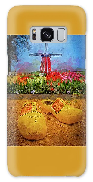 Yellow Wooden Shoes Galaxy Case