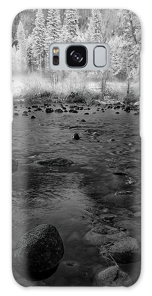 White Mountain National Forest Galaxy Case - Yosemite River In Bw by Jon Glaser