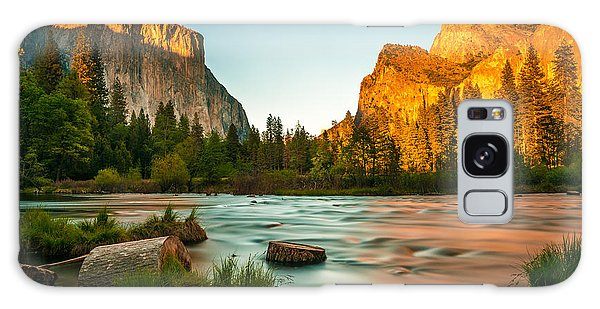 Long Exposure Galaxy Case - Yosemite Valley View Sunset by Mohamed Selim