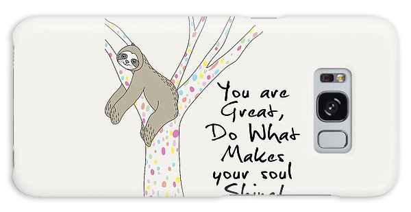 You Are Great Do What Makes Your Soul Shine - Baby Room Nursery Art Poster Print Galaxy Case