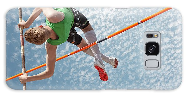 Jump Galaxy Case - Young Athletes Pole Vault Seems To by Mezzotint
