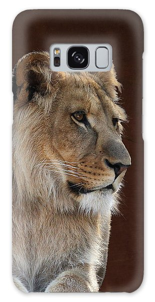 Young Male Lion Portrait Galaxy Case