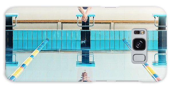 Sportsman Galaxy Case - Young Muscular Swimmer Jumping From by Nejron Photo