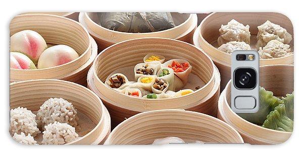 Wrap Galaxy Case - Yumcha, Dim Sum In Bamboo Steamer by Bonchan