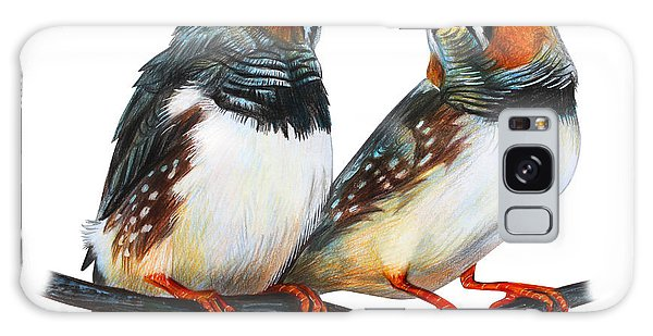 Realistic Galaxy Case - Zebra Finch Drawing Taeniopygia Guttata by Viktoriya art