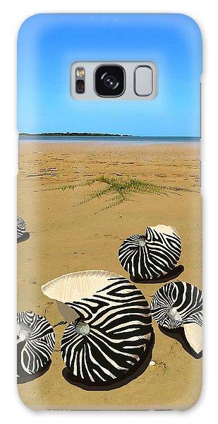 Zebra Nautilus Shells On The Beach  Galaxy Case