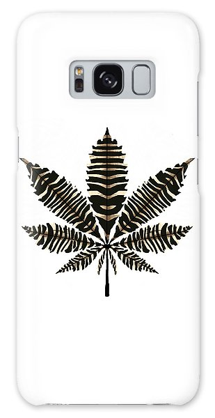 Zebra Pattern Marijuana Leaf 2 Galaxy Case