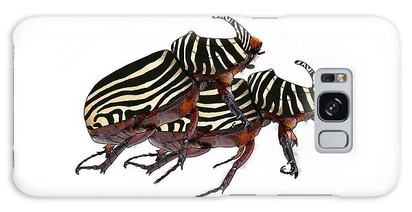 Zebra Pattern Rhinoceros Beetle 2 Galaxy Case