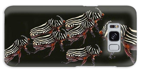 Zebra Pattern Rhinoceros Beetle 3 Galaxy Case