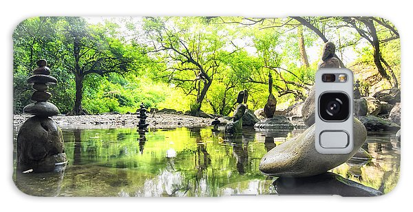 Spirituality Galaxy Case - Zen Pond In Forest. Photography Of by Banana Republic Images