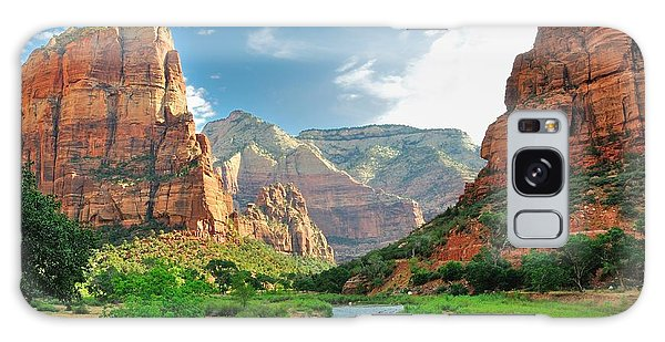 Southwest Usa Galaxy Case - Zion Canyon, With The Virgin River by Bjul
