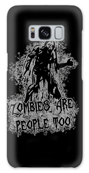Zombies Are People Too Halloween Vintage Galaxy Case