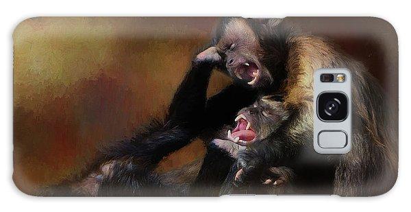 Zoo Monkey's Playing Galaxy Case