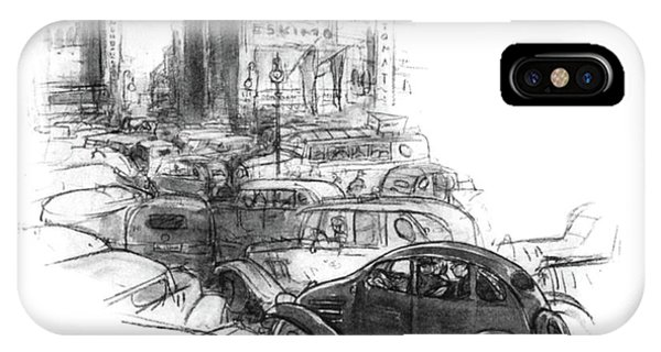 Highway iPhone Case - . . . And We've Got Wind Resistance by Perry Barlow