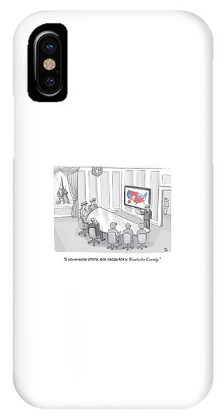 Election iPhone Case - Russian Government Monitors Us Elections by Paul Noth