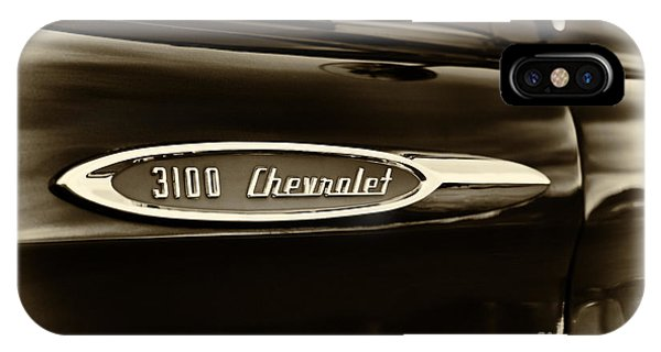3100 Chevrolet Truck Sepia Phone Case by Tim Gainey