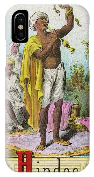 A Hindu Snake Charmer Phone Case by Mary Evans Picture Library