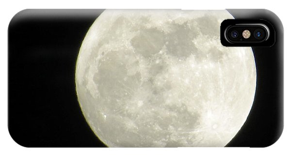 A Winter'sfullmoon Over Ga IPhone Case