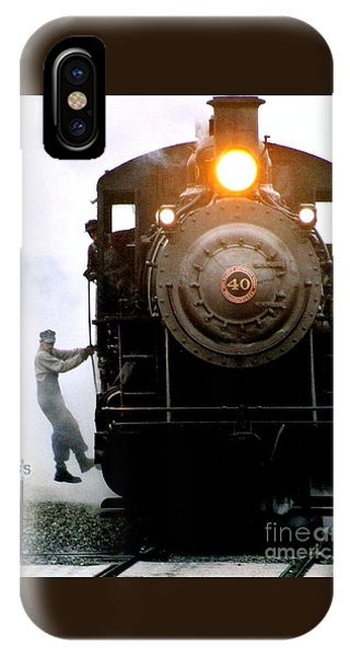 All Aboard The Number 40 At New Hope Pennsylvania Train Terminal IPhone Case