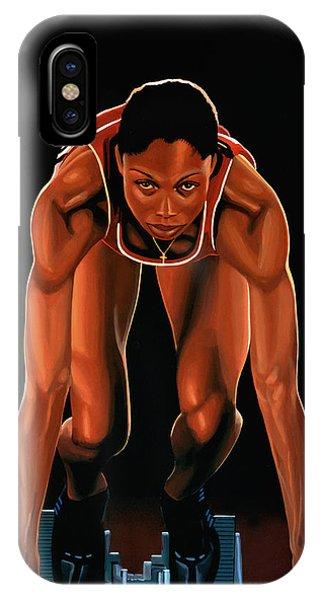 Allyson Felix Painting  IPhone Case