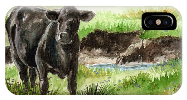 IPhone Case featuring the painting  Angus by Linda L Martin