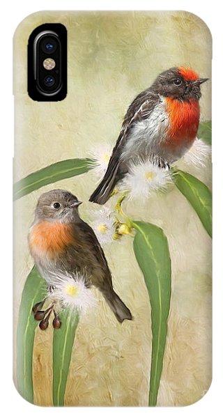 Australian Scarlet Robin IPhone Case