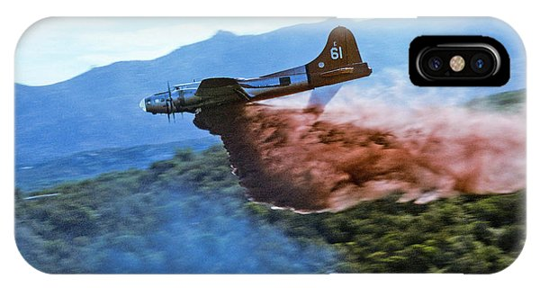 B-17 Air Tanker Dropping Fire Retardant IPhone Case