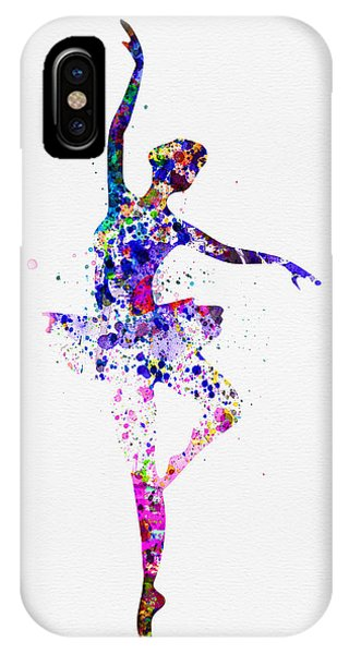 Musical iPhone Case -  Ballerina Dancing Watercolor 2 by Naxart Studio
