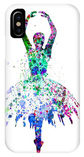 Ballerina iPhone Case -  Ballerina Dancing Watercolor 4 by Naxart Studio