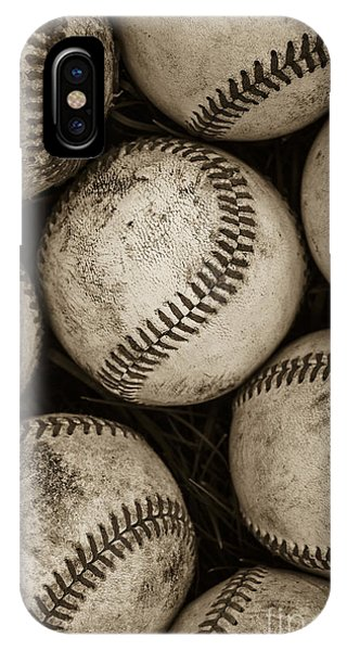 Life iPhone Case -  Baseballs by Diane Diederich