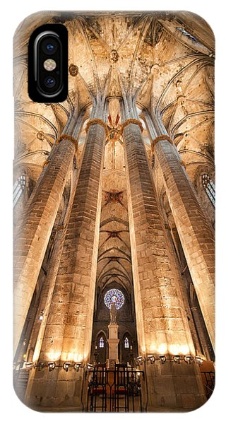 Basilica Of Santa Maria Del Mar In Barcelona IPhone Case