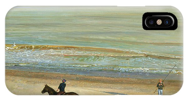 Calm iPhone Case -  Beach Dialogue Dunwich by Timothy  Easton