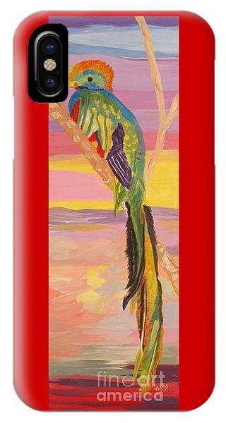 Beautiful Bird Quetzal Must Open  IPhone Case