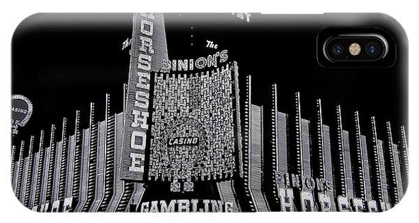 Binion's Horseshoe Casino Exterior Casino Center Las Vegas Nevada 1979-2014 IPhone Case