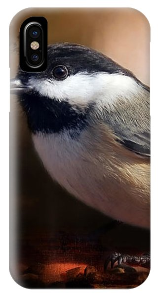 Black Capped Chickadee IPhone Case