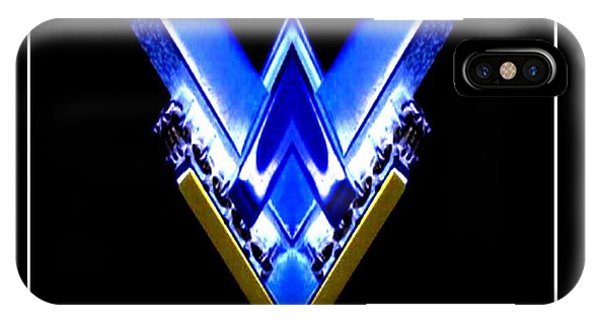 Blue Arrow IPhone Case
