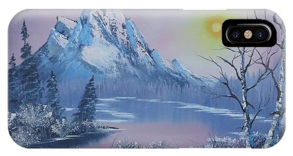 Blue Winter's Sunglow  IPhone Case