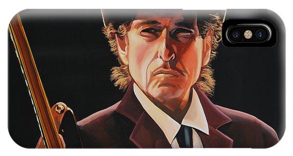Singer iPhone Case -  Bob Dylan 2 by Paul Meijering