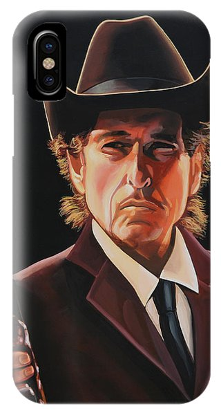 Bob Dylan iPhone Case -  Bob Dylan 2 by Paul Meijering