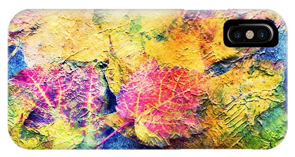 Bright- Colorful Fall Leave Abstract IPhone Case