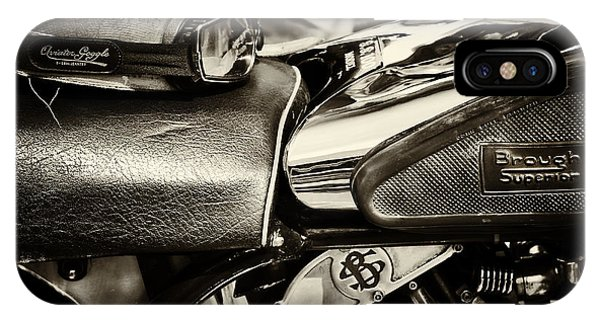 Superior iPhone Case -  Brough Superior Ss100 by Tim Gainey