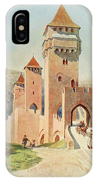 Cahors  Pont Valentre        Date 1904 Phone Case by Mary Evans Picture Library