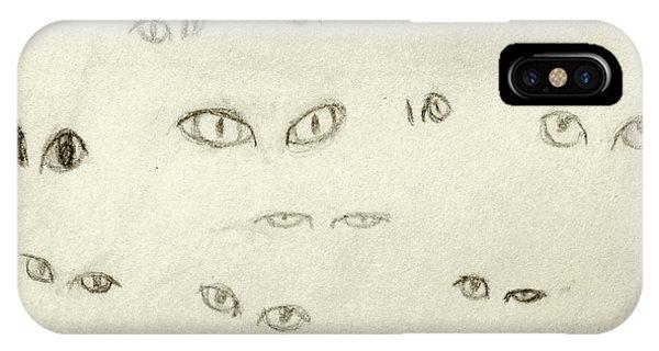 Cat Eyes - 1 IPhone Case