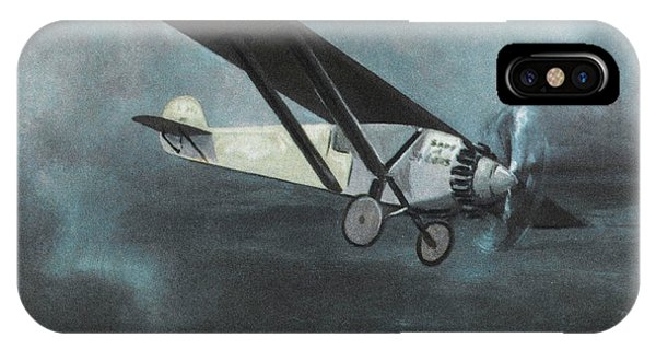 Charles Lindbergh Is The First  To Fly Phone Case by Mary Evans Picture Library