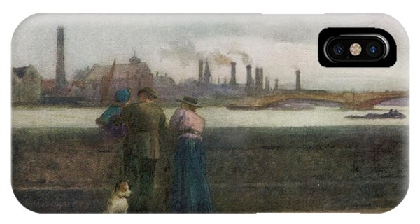 Chelsea Embankment On A Grey Day Phone Case by Mary Evans Picture Library