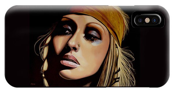 Rhythm And Blues iPhone Case -  Christina Aguilera Painting by Paul Meijering