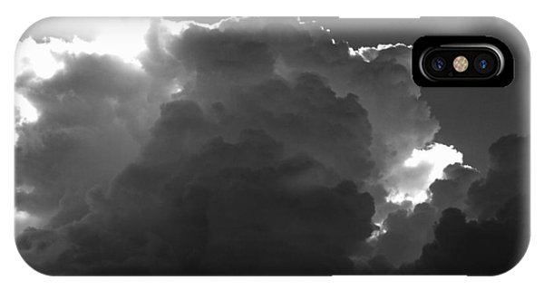 Clouds 1 Bw Phone Case by Maxwell Amaro